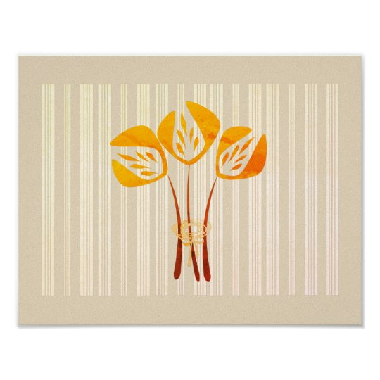 Abstract Orange Tulips Collage Poster