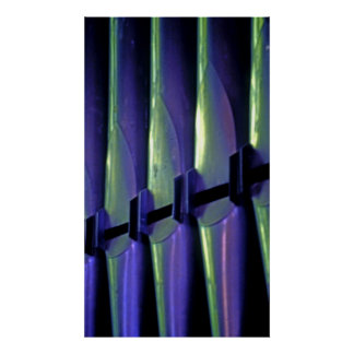 Abstract Organ Pipes Poster
