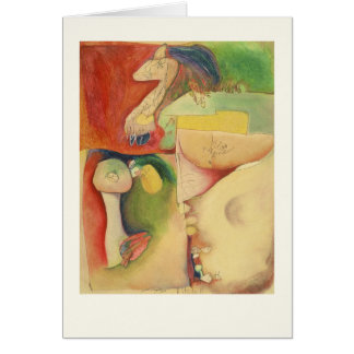 abstract original art, geometric shapes, colourful card