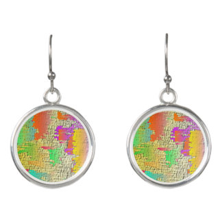 Abstract Original Circle Drop Earrinngs Earrings