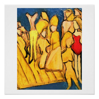 Abstract Original Painting, a group beaching it.
