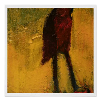 Abstract original painting - bird
