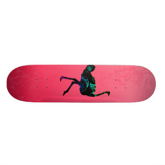 Abstract Ostrich Skateboard