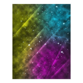 Abstract Outer Space Poster  8.5x11