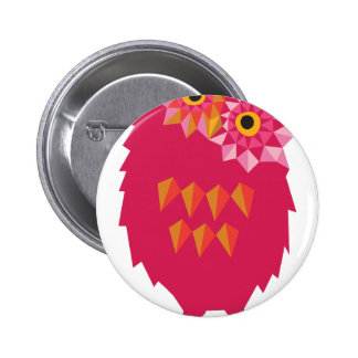 Abstract Owl 6 Cm Round Badge