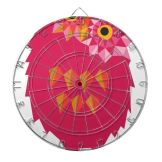 Abstract Owl Dartboard With Darts