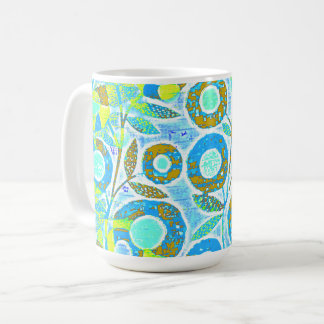 Abstract_Pacific-West-_Mod_Floral Coffee Mug