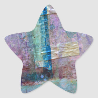 abstract paint background star sticker
