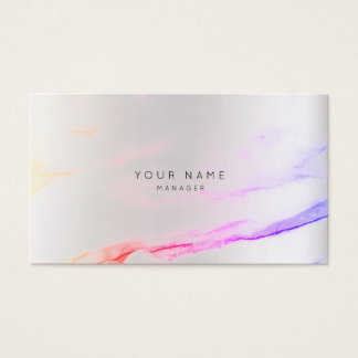 Abstract Paint Gray Appointment Silver Stroke VIP Business Card