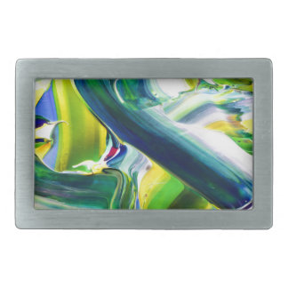 abstract paint rectangular belt buckles