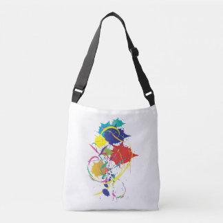 Abstract Paint Splatter Design Modern Cool Crossbody Bag