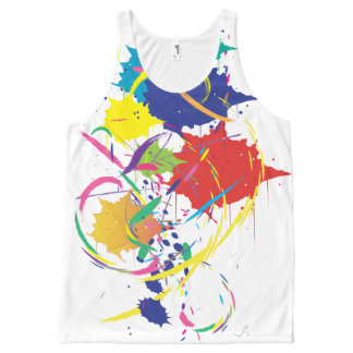 Abstract Paint Splatter Unisex All Over Print All-Over Print Singlet