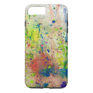 Abstract Paint Splattered iPhone 7 Plus Case