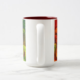 Abstract Paint strokes Van Gogh style Two-Tone Coffee Mug
