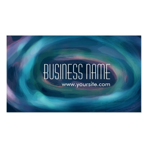 Abstract Paint Swirl Business Card