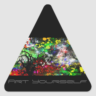 Abstract Paint Triangle Sticker