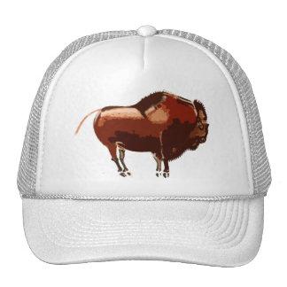 Abstract Painted Buffalo Cap