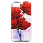 Abstract painted floral background 2 iPhone 5 covers