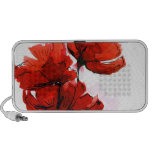Abstract painted floral background 2 laptop speaker