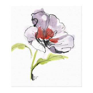 Abstract painted floral background 3 stretched canvas prints
