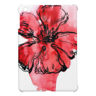 Abstract painted floral background 4 iPad mini cases