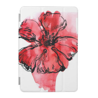 Abstract painted floral background 4 iPad mini cover