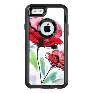 Abstract painted floral background OtterBox iPhone 6/6s case
