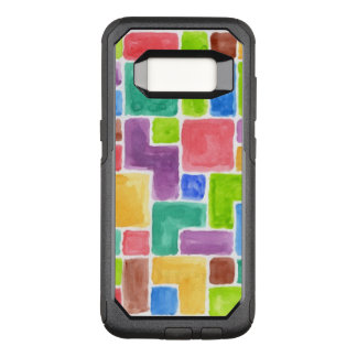 Abstract painted watercolor background. 2 OtterBox commuter samsung galaxy s8 case