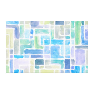 Abstract painted watercolor background. stretched canvas prints
