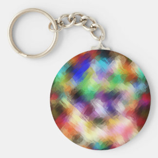 Abstract Painterly Spectrum Key Ring