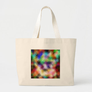 Abstract Painterly Spectrum Large Tote Bag