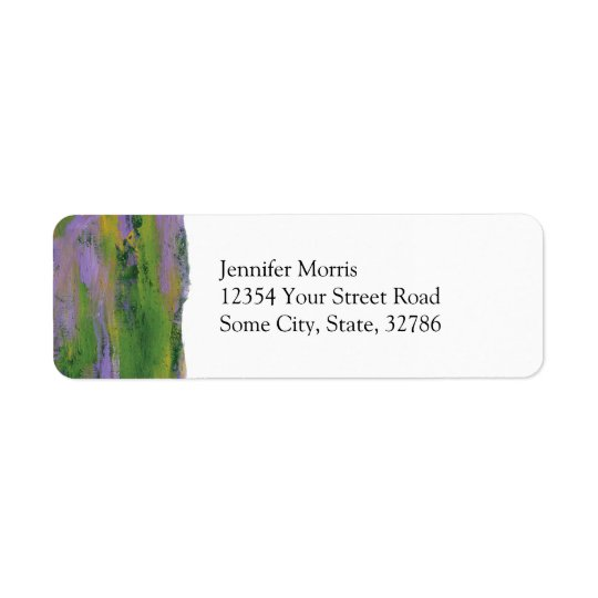 "Abstract Painting 51 ""Bliss Return Address Label"