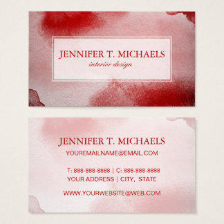 abstract painting background business card