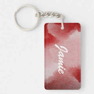 abstract painting background Double-Sided rectangular acrylic key ring