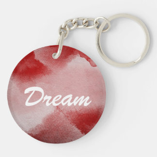 abstract painting background Double-Sided round acrylic key ring