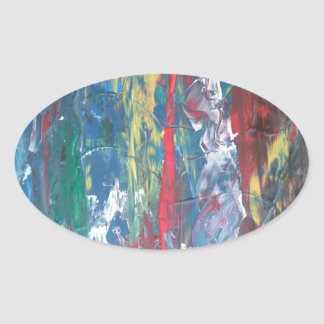 Abstract painting by s.b. Eazle Oval Stickers