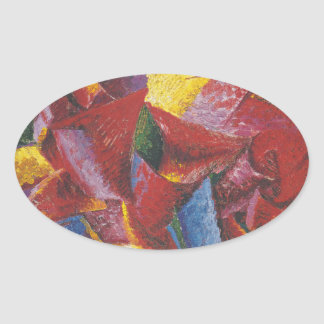 Abstract painting by Umberto Boccioni Stickers