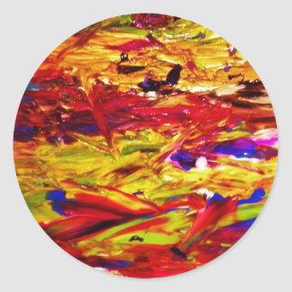 Abstract Painting Classic Round Sticker