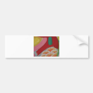 Abstract Painting Detail Bumper Sticker