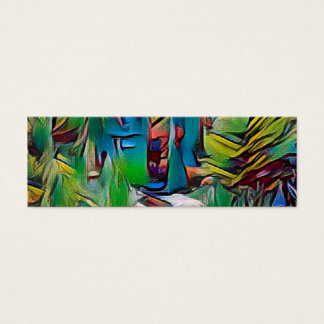 Abstract painting, early autumn,digital art, moder mini business card