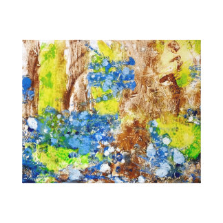 Abstract painting of bluebells canvas print
