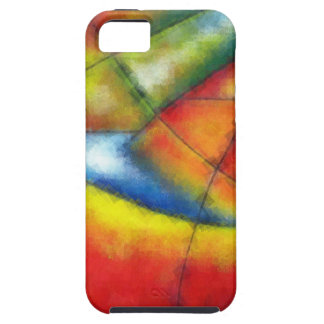 abstract painting red yellow green blue iPhone 5 cover