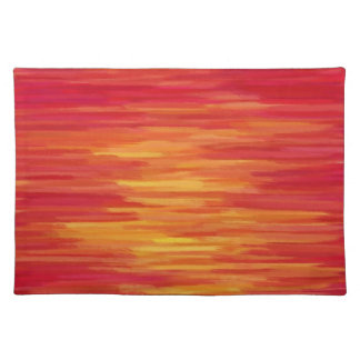 Abstract Painting | Retro Orange 10 Placemat