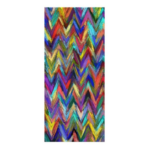 Abstract painting styled background customized rack card