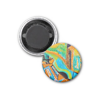 Abstract Painting (Texture) Round Magnet