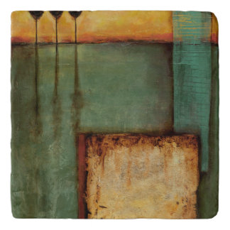 Abstract Painting with Piano Keys Trivet