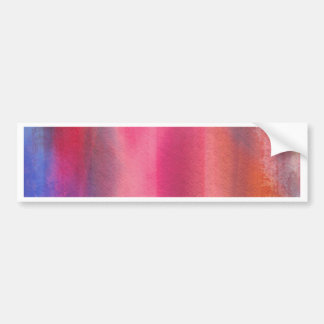 Abstract paints bumper sticker