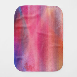 Abstract paints burp cloth
