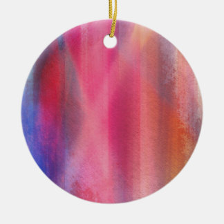 Abstract paints ceramic ornament
