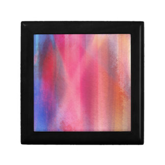 Abstract paints gift box
